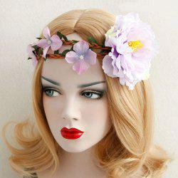 Flower Leaf Braid Elastic Wreath Hairband -