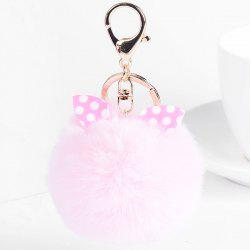 Fuzzy Ball Rabbit Ears Cute Keychain -