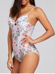 Push Up Floral One Piece Swimsuit -