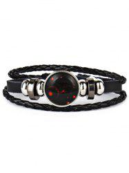 Vintage Braid Rope 12 Constellations Bolo Bracelet -