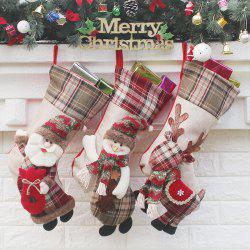 3Pcs Candy Gift Bag Christmas Socks Hanging Decorations -