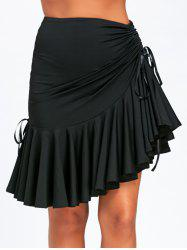 Ruched Ruffle Adjustable Skirt -