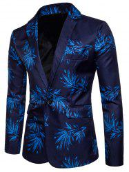 One Button Floral Print Blazer -