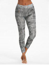 Printed High Waist Ninth Jeggings -