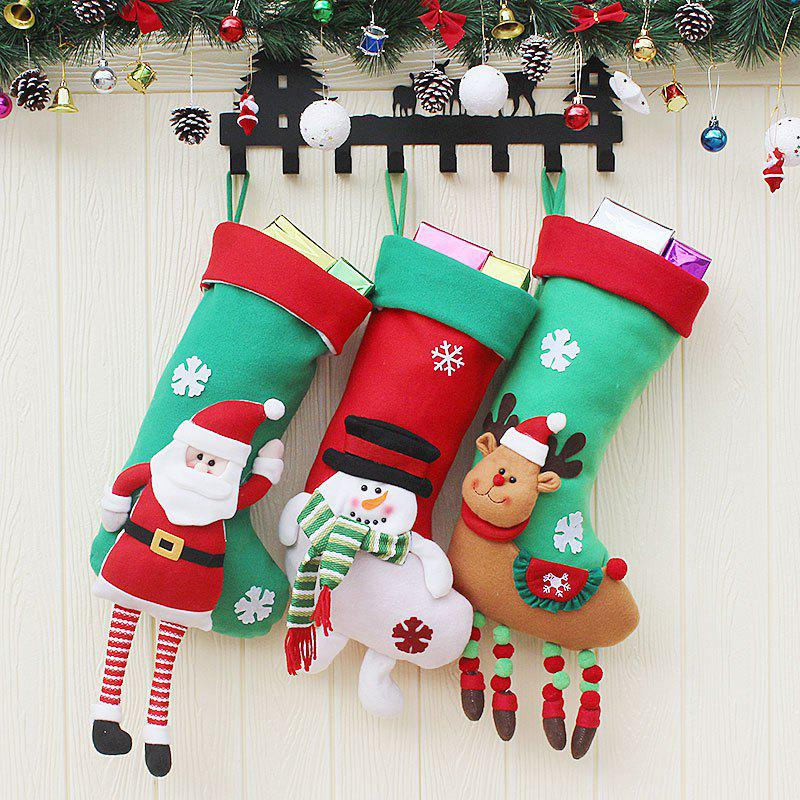 Unique 3Pcs Decorative Christmas Candy Socks Hanging