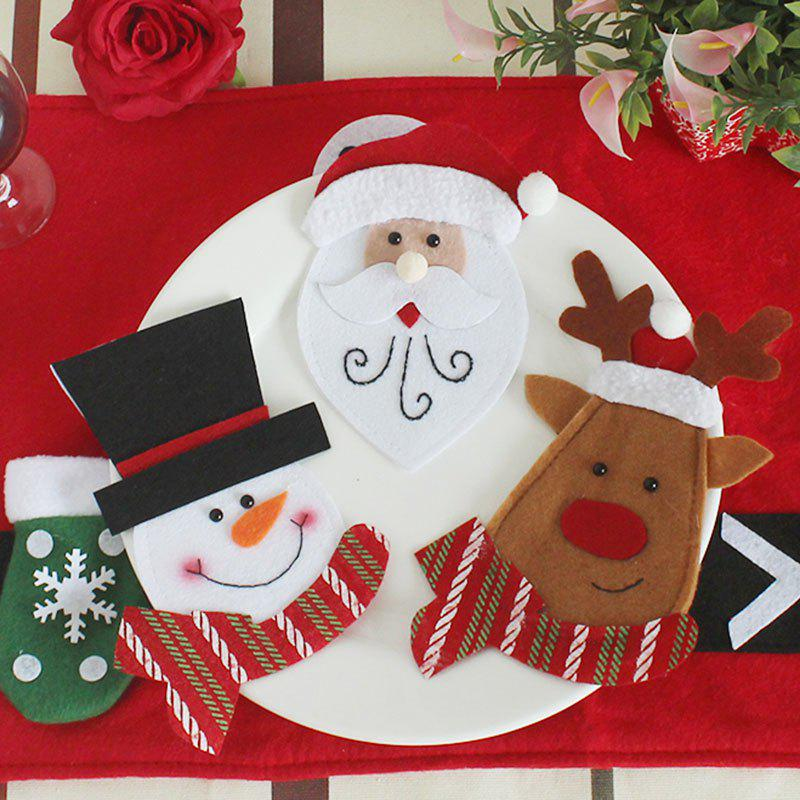 3Pcs Knives And Forks Bags Christmas Table DecorationHOME<br><br>Color: COLORFUL; Event &amp; Party Item Type: Party Decoration; Occasion: Christmas; Weight: 0.0500kg; Package Contents: 3 x Knives And Forks Bags (Pcs);