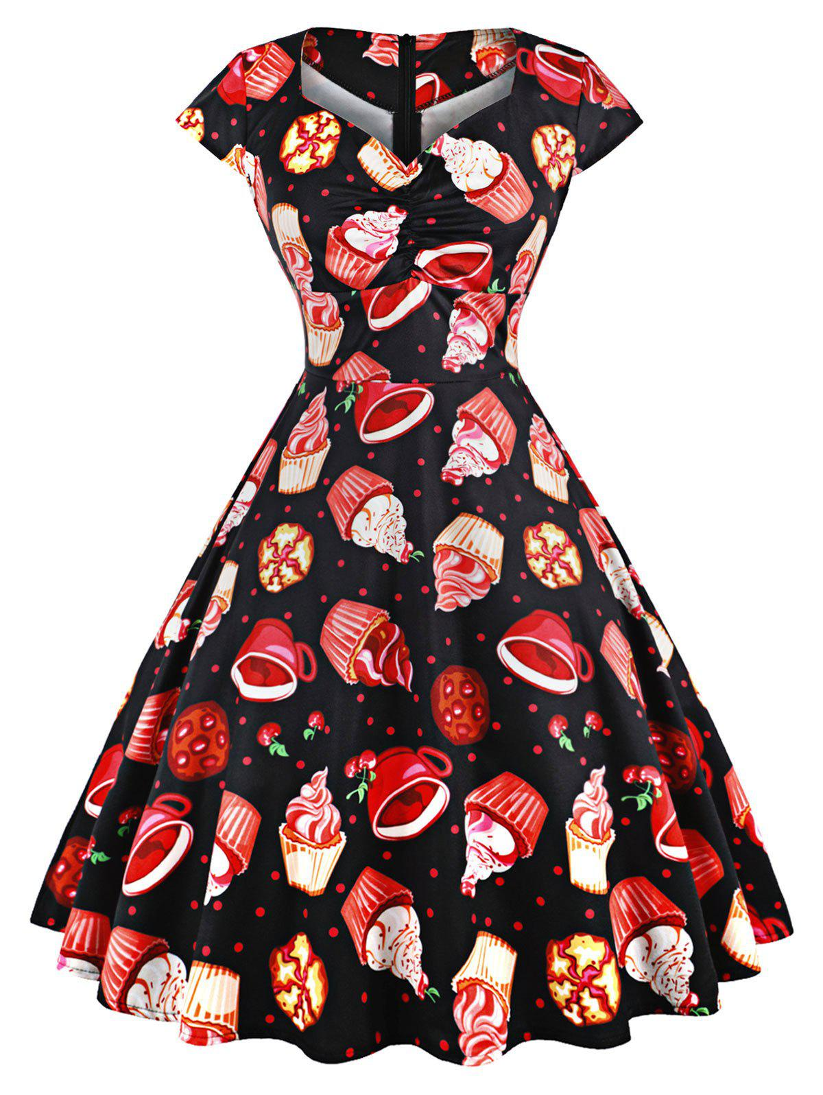 Chic Cookies A Line Party Vintage Dress