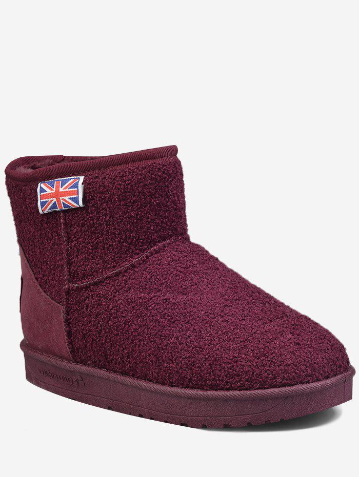 New The Union Flag Suede Snow Ankle Boots