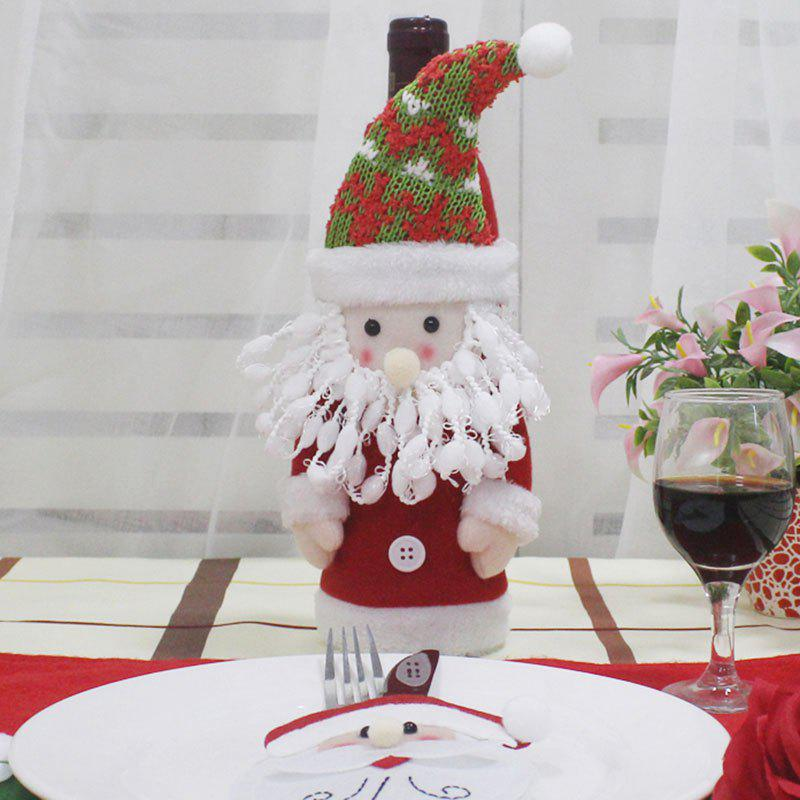 Table Decor Santa Claus Shape Winebottle CoverHOME<br><br>Color: COLORFUL; Event &amp; Party Item Type: Party Decoration; Occasion: Christmas; Material: Non-woven; Weight: 0.0400kg; Package Contents: 1 x Winebottle Cover;