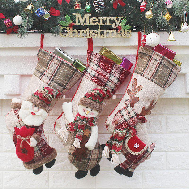 3Pcs Candy Gift Bag Christmas Socks Hanging DecorationsHOME<br><br>Color: COLORFUL; Event &amp; Party Item Type: Other; Occasion: Christmas; Material: Napped Fabric,Wool; Weight: 0.2400kg; Package Contents: 3 x Christmas Socks (Pcs);