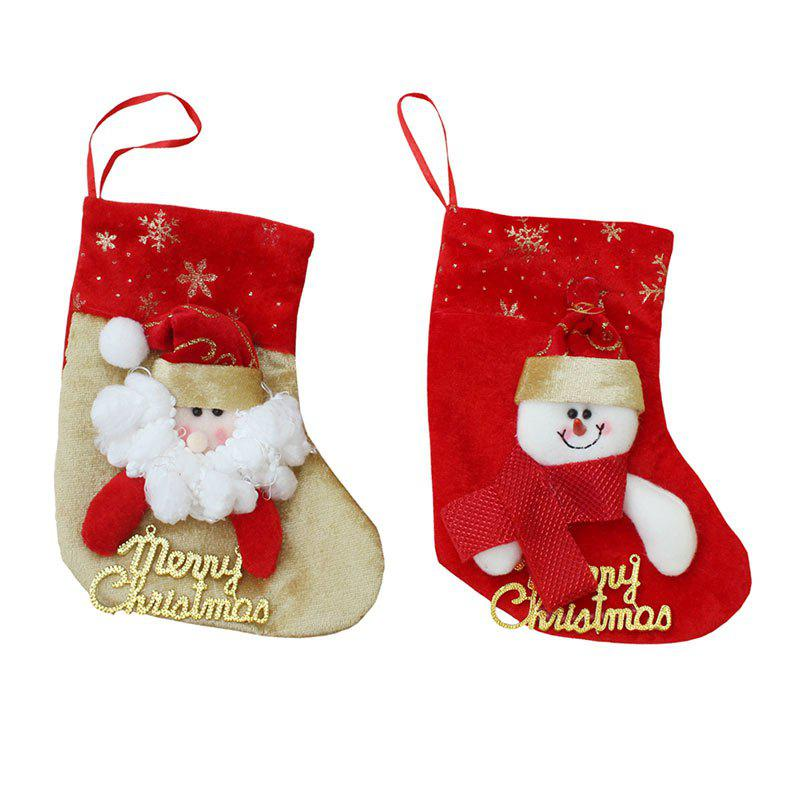 2Pcs Santa Claus And Snowman Patterned Christmas SocksHOME<br><br>Color: COLORFUL; Event &amp; Party Item Type: Other; Occasion: Christmas; Weight: 0.0700kg; Package Contents: 2 x Christmas Socks (Pcs);