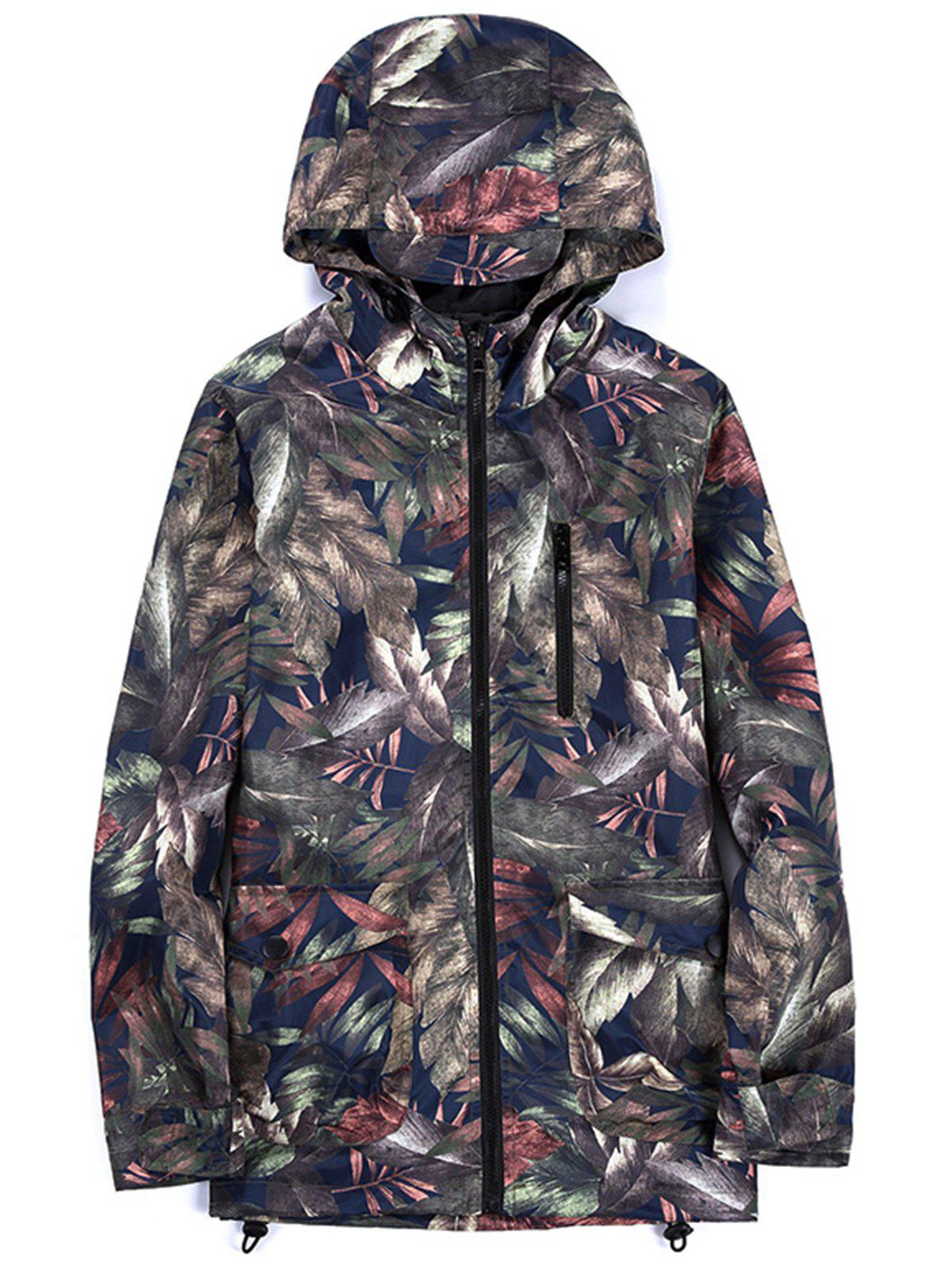 Lightweight Tropical Leaves Print Windbreaker JacketMEN<br><br>Size: 5XL; Color: COLORMIX; Clothes Type: Jackets; Style: Active,Casual,Fashion,Streetwear; Material: Polyester; Collar: Hooded; Shirt Length: Regular; Sleeve Length: Long Sleeves; Season: Fall,Spring; Closure Type: Zipper; Crafts: Printing; Occasion: Beach,Casual ,Daily Use,Going Out,Sports; Weight: 0.4200kg; Package Contents: 1 x Jacket;