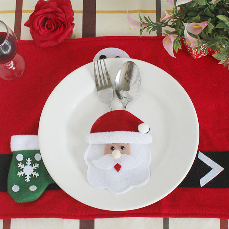 Discount Santa Claus Patterned Knives And Forks Tableware Bag
