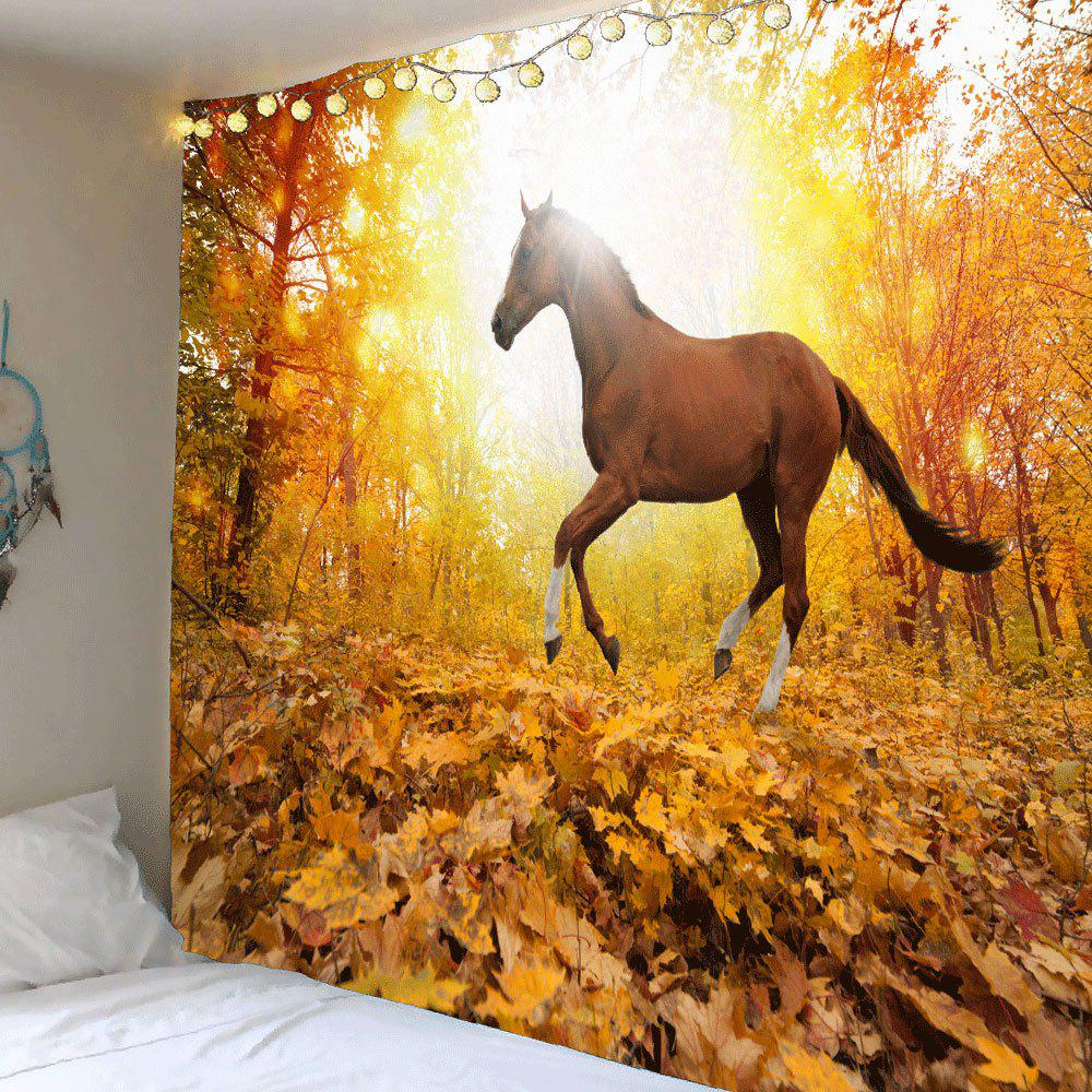 Colorful W79 Inch * L79 Inch Wall Art Sunset Forest Horse Pattern ...