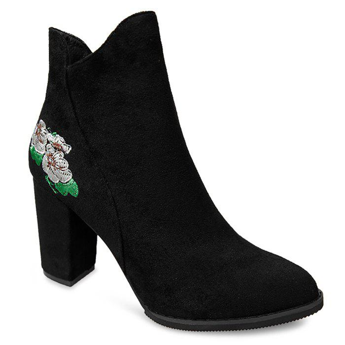Hot Floral Embroidery High Heel Boots