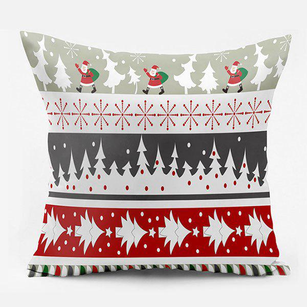 Christmas Tree Santa Claus Double Side Printed Throw PillowcaseHOME<br><br>Size: W17.5 INCH * L17.5 INCH; Color: COLORMIX; Material: Polyester / Cotton; Pattern: Christmas Tree,Santa Claus,Snowflake; Style: Festival; Shape: Square; Weight: 0.1000kg; Package Contents: 1 x Pillowcase;