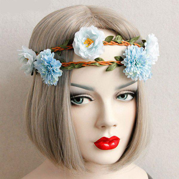 Buy Leaf Flower Braid Elastic Hairband