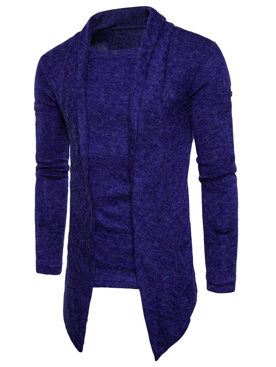 Best Faux Twinset Panel Asymmetric Knitted Cardigan