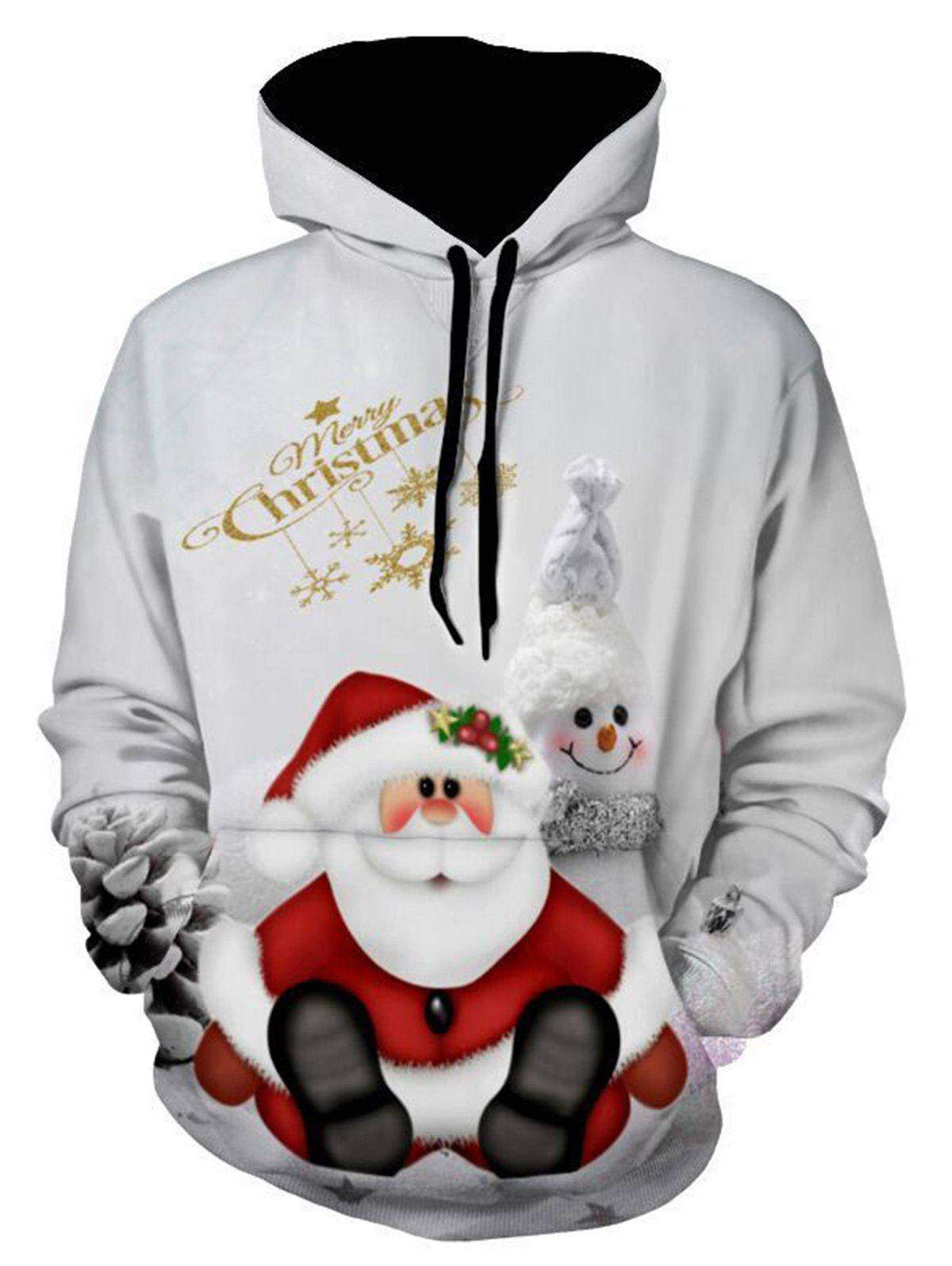 Christmas Snowman Print Pullover HoodieMEN<br><br>Size: L; Color: GRAY; Material: Polyester,Spandex; Clothes Type: Hoodie; Shirt Length: Regular; Sleeve Length: Full; Style: Fashion; Patterns: 3D,Animal,Print; Thickness: Regular; Occasion: Casual ,Daily Use,Going Out; Weight: 0.5400kg; Package Contents: 1 x Hoodie;