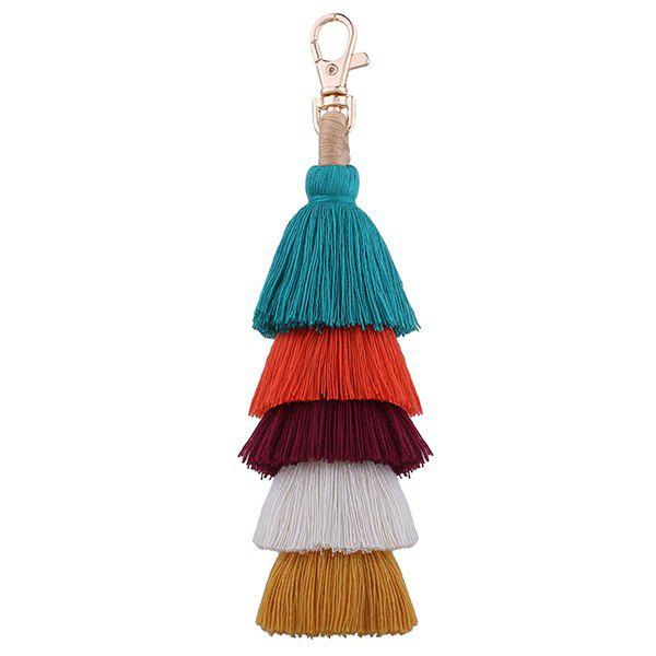 Multilayered Bohemian Tassel KeychainJEWELRY<br><br>Color: COLORFUL; Gender: For Women; Style: Trendy; Shape/Pattern: Tassel; Weight: 0.0260kg; Package Contents: 1 x Keychain;