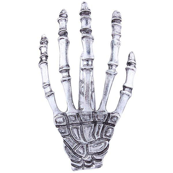 Skeleton Hand Cool BarretteACCESSORIES<br><br>Color: SILVER; Headwear Type: Barrette; Group: Adult; Gender: For Women; Style: Punk; Shape/Pattern: Skeleton; Weight: 0.0120kg; Package Contents: 1 x Barrette;