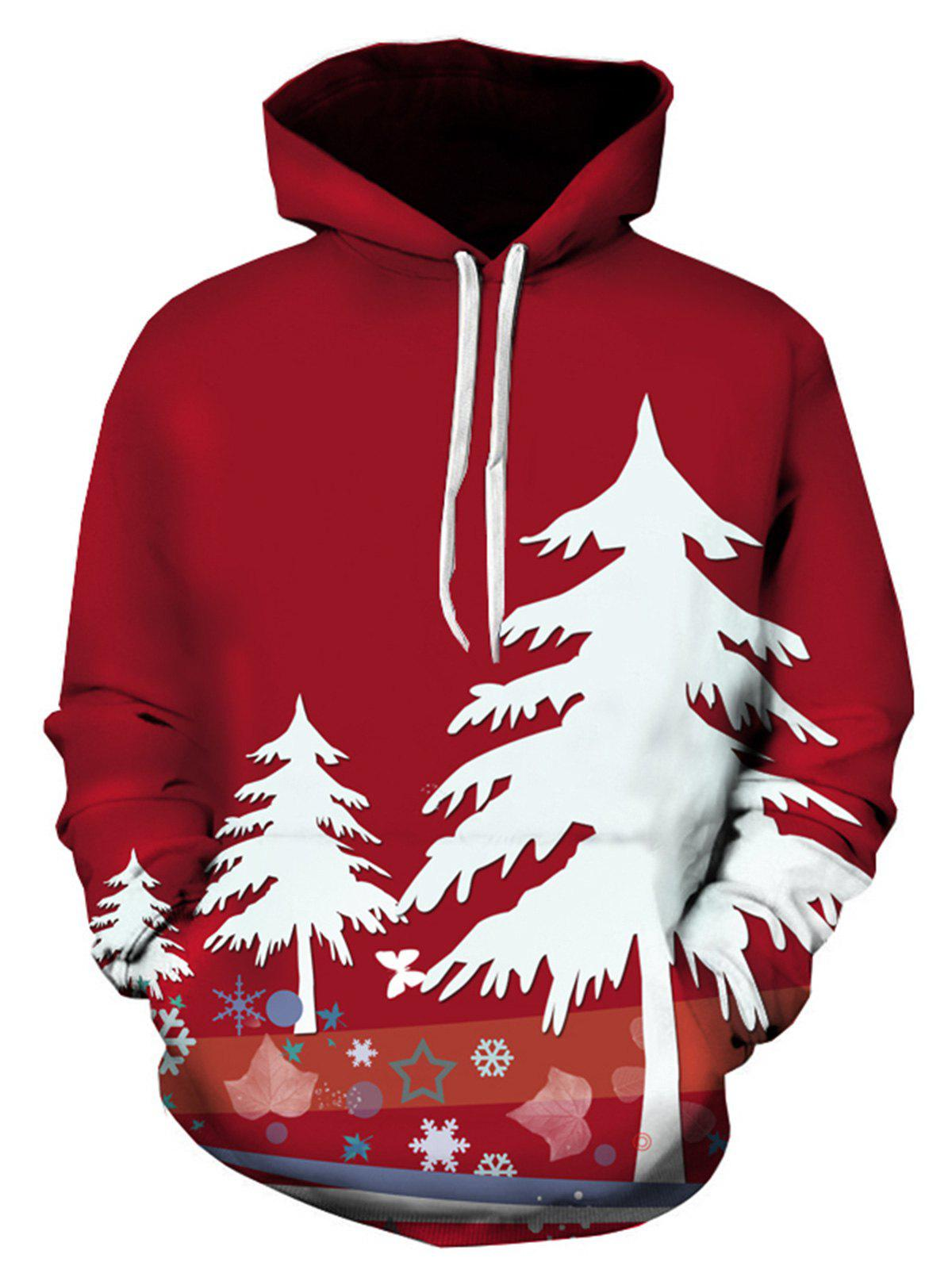 3D Christmas Tree Print Pullover HoodieMEN<br><br>Size: L; Color: COLORMIX; Material: Cotton,Polyester; Clothes Type: Hoodie; Shirt Length: Regular; Sleeve Length: Full; Style: Fashion; Patterns: 3D,Plants,Print; Thickness: Regular; Occasion: Casual,Daily Use,Going Out; Weight: 0.4800kg; Package Contents: 1 x Hoodie;