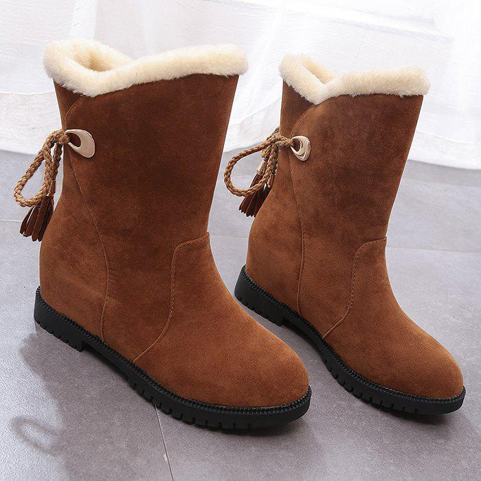 Trendy Faux Fur Tassels Snow Boots