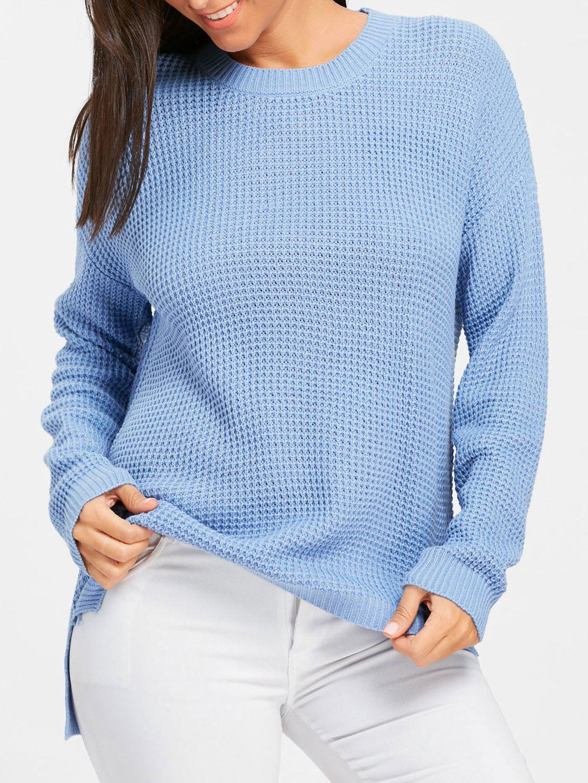 New Crew Neck High Low Tunic Sweater