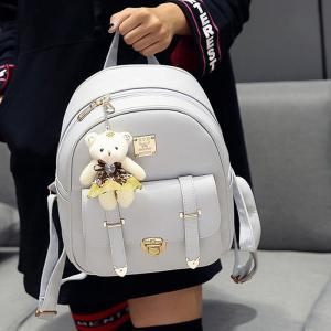 Bow 3 Pieces Metal Backpack Set -