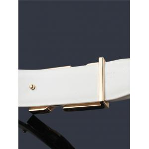 3D X Shape Metal Buckle Embellished PU Leather Wide Belt -