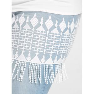 See Through Tassel Lace Extender Plus Size Skirt -