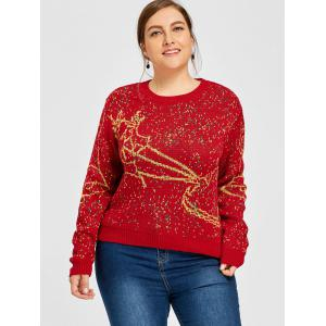 Sweat Taille Elk Bell Plus De Noël -