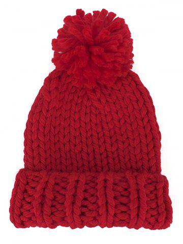 Outdoor Straight Needle Thick Lines Knitting Beanie