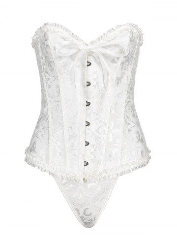 Outfit Steel Boned Plus Size Brocade Corset