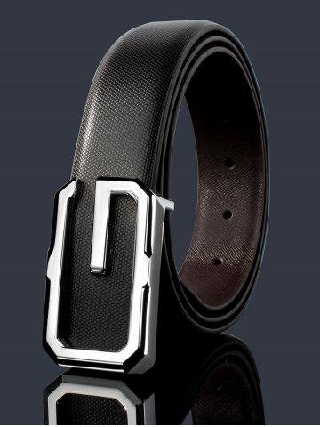 Online Vintage Metal Buckle Faux Leather Automatic Buckle Wide Belt
