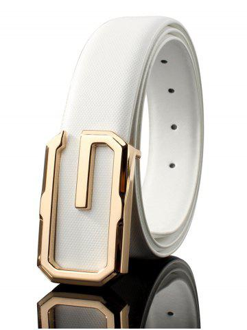 Chic Vintage Metal Buckle Faux Leather Automatic Buckle Wide Belt