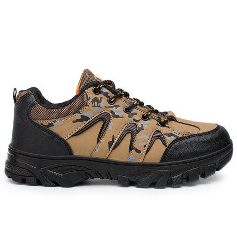 Camo Print Mesh Panels Outdoor Hiking Shoes