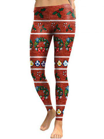 Unique Christmas Printed Skinny Leggings