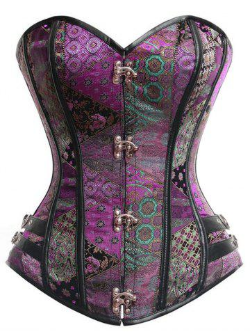 Latest Vintage Underbust Brocade Lace-up Corset