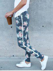 Flower Print Jogger Running Leggings -