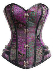 Vintage Underbust Brocade Lace-up Corset -