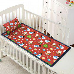 Christmas Elements Pattern Viscose Fiber Children Bed Matting with Pillowcase -