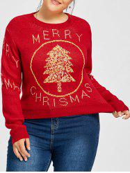 Merry Christmas Snowman Tree Plus Size Sweater -