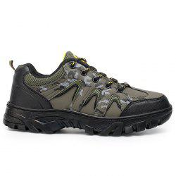 Camo Print Mesh Panels Outdoor Hiking Shoes -