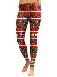 Christmas Printed Skinny Leggings -