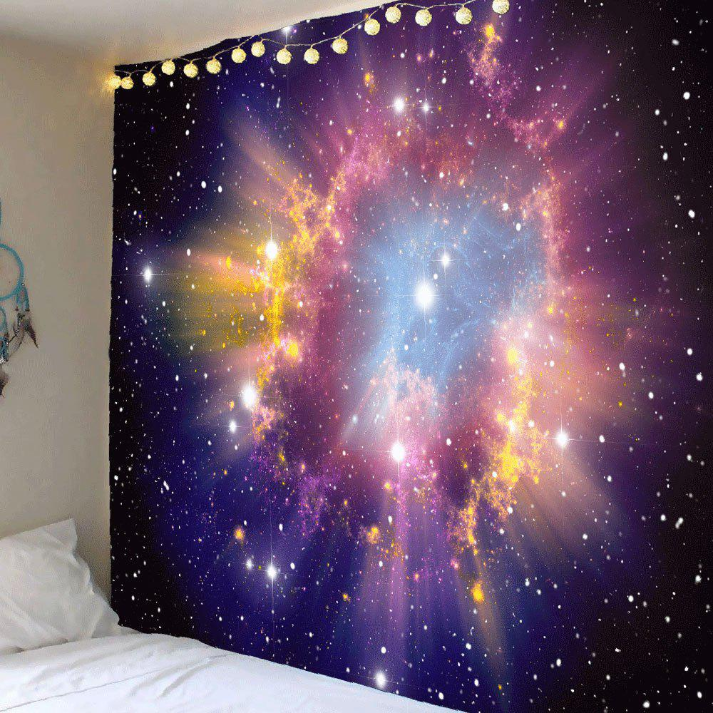 Shiny Starry Sky Printed Wall Art TapestryHOME<br><br>Size: W59 INCH * L51 INCH; Color: COLORFUL; Style: Natural; Theme: Landscape; Material: Polyester; Feature: Removable,Waterproof; Shape/Pattern: Star; Weight: 0.2100kg; Package Contents: 1 x Tapestry;