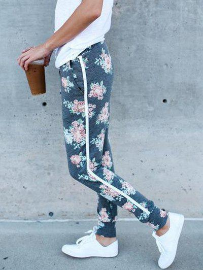 Chic Flower Print Jogger Running Leggings
