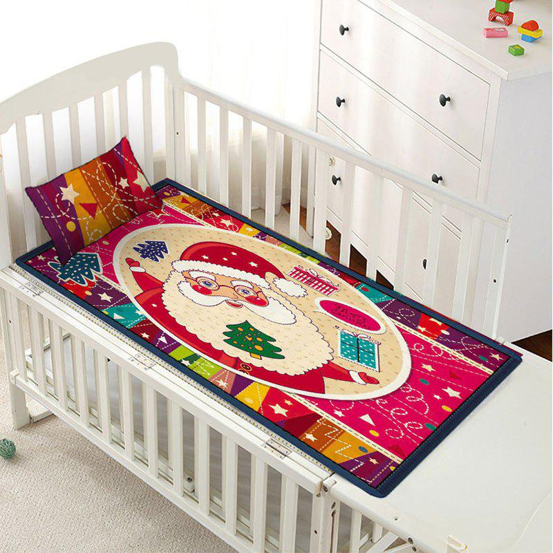 Latest Santa Claus Printed Christmas Children Bed Matting with Pillowcase
