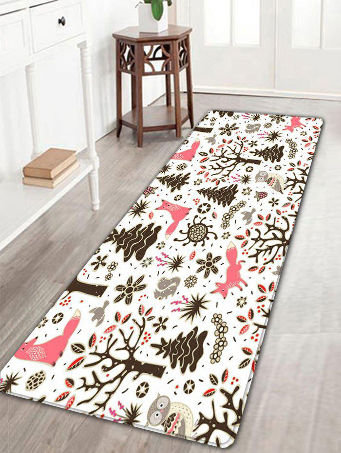 Christmas Printed Flannel Antislip Bath MatHOME<br><br>Size: W16 INCH * L47 INCH; Color: COLORMIX; Products Type: Bath rugs; Materials: Flannel; Style: Festival; Shape: Rectangular; Package Contents: 1 x Rug;