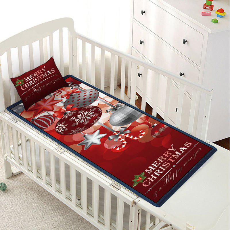 Buy Christmas Ball Letter Print Children Bed Matting with Pillowcase